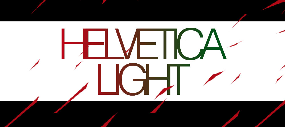 A design with the typeface Helvetica Light.